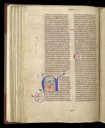 Decorated Initial, In A Volume Of The Works Of John Of Salisbury f.57v